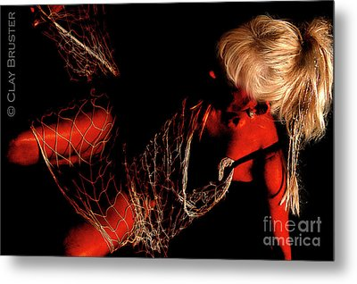 Metal Print featuring the photograph Netted A Red by Clayton Bruster