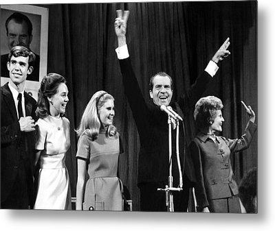 New President-elect Richard Nixon Metal Print by Everett