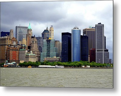 Metal Print featuring the photograph New York City by Pravine Chester
