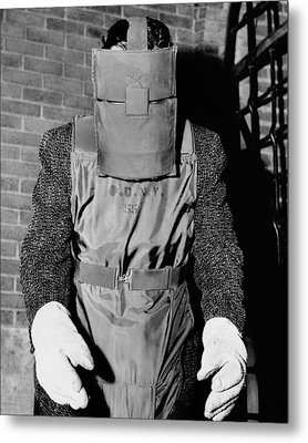 New York Police Bomb Squad Working Metal Print by Everett