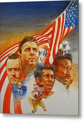 Nfl Hall Of Fame 1984 Game Day Cover Metal Print by Cliff Spohn