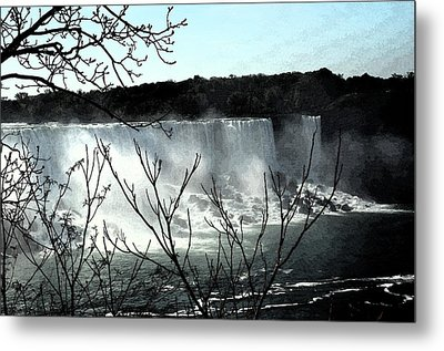 Metal Print featuring the photograph Niagar Falls by Pravine Chester