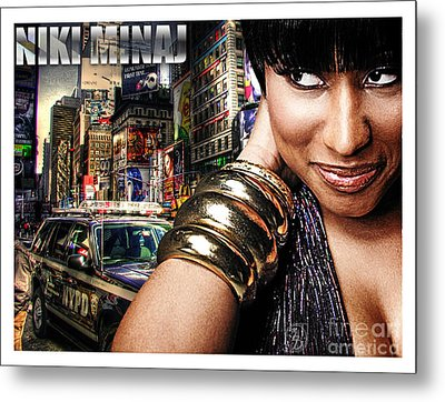 Niki Minaj Metal Print by The DigArtisT