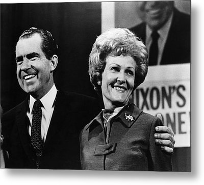 Nixon Presidency. Us President-elect Metal Print by Everett