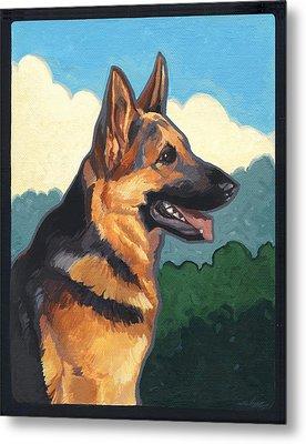 Noble German Shepherd Dog Metal Print by Shawn Shea
