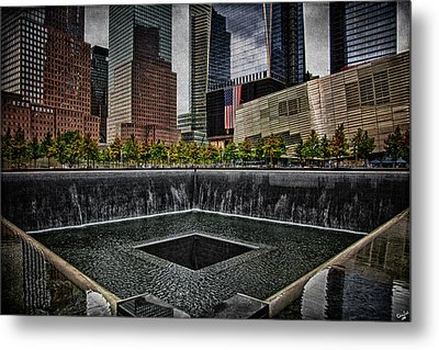 North Tower Memorial Metal Print by Chris Lord