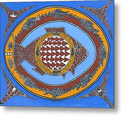 Northwest Fusion Fish Metal Print by Bart Theiler