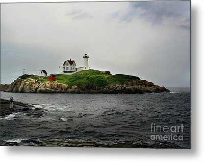 Nubble Light Metal Print by Adrian LaRoque
