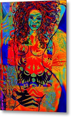 Nude Goddess Metal Print by Natalie Holland