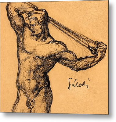 Nude Men Metal Print by Odon Czintos