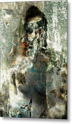 Metal Print featuring the digital art Nude Stranger by Andrea Barbieri