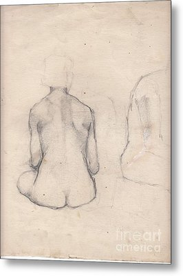 Nude Study 4 Metal Print by Brian Francis Smith