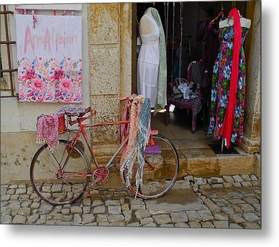 Metal Print featuring the photograph Obidos Portugal Street Scene by Kirsten Giving
