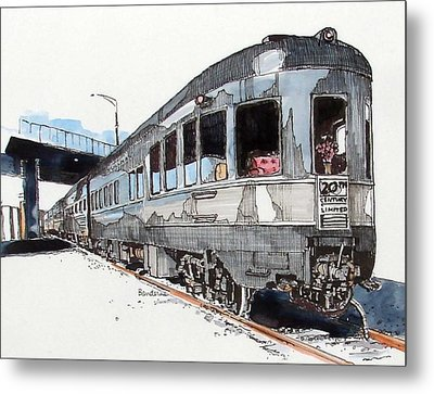 Metal Print featuring the painting Observation Car by Terry Banderas
