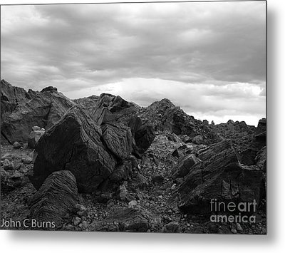 Metal Print featuring the photograph Obsidian Field by John Burns