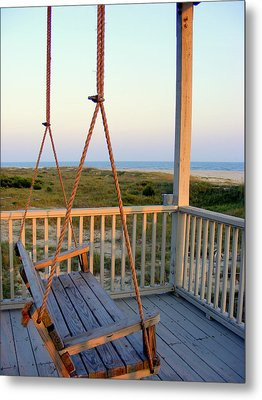 Metal Print featuring the photograph Ocean View At Oak Island Nc by Kelly Nowak