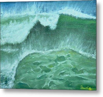 Ocean's Green Metal Print by Dawn Harrell
