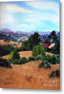 October View Of Arastradero Metal Print by Laura Iverson