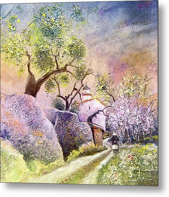 Old And Lonely In Spain 06 Metal Print by Miki De Goodaboom
