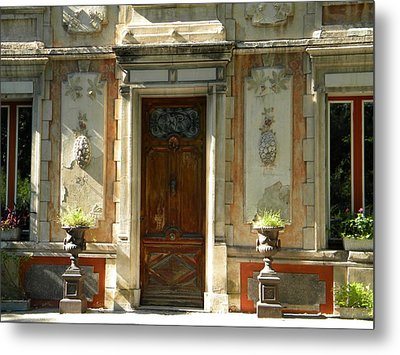 Old Entrance In Provence Metal Print by Manuela Constantin