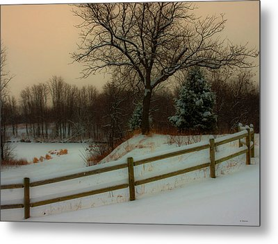 Old Fashiion Winter Metal Print by Edward Peterson
