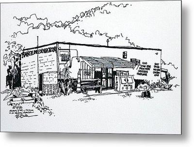 Old Grocery Store - W. Delray Beach Florida Metal Print by Robert Birkenes