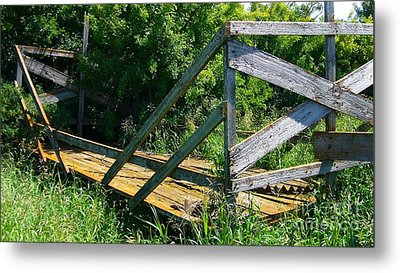Metal Print featuring the photograph Old Hayrack by Jim Sauchyn