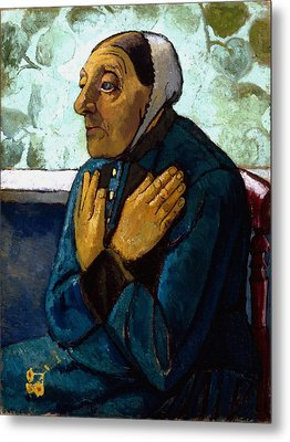 Old Peasant Woman Metal Print by Paula Modersohn-Becker