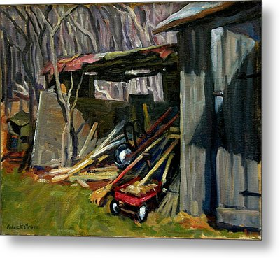 Old Shed Berkshires Metal Print by Thor Wickstrom