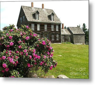 Olson House With Flowers Metal Print by Theresa Willingham