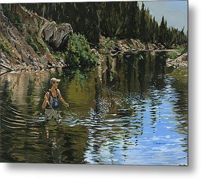 On The Deadwood River Metal Print