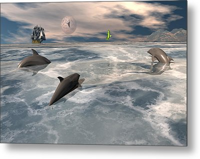 On The Hunt Metal Print by Claude McCoy