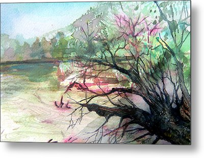 On The River Metal Print by Mindy Newman