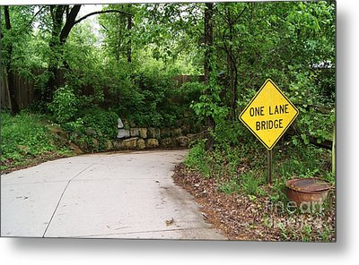 Metal Print featuring the photograph One Lane Adventures by Julie Clements