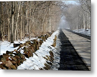 One Track Road Metal Print