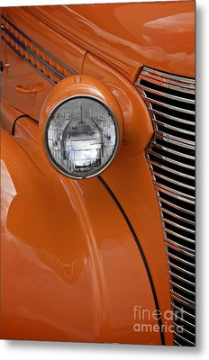 Orange Chevrolet Metal Print by Sherry Davis
