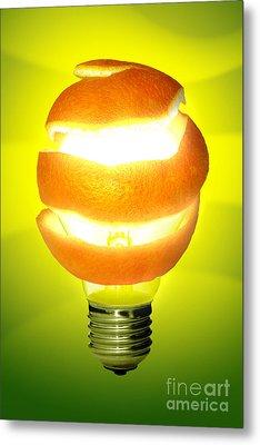 Orange Lamp Metal Print by Carlos Caetano