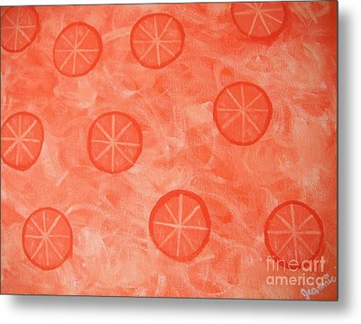 Orange Slices Metal Print by Jeannie Atwater Jordan Allen