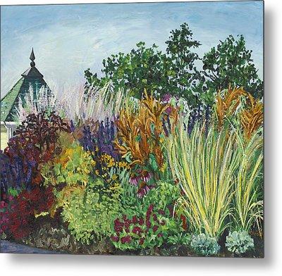Ornamental Grasses In Longfellow Gardens Metal Print by Christina Plichta