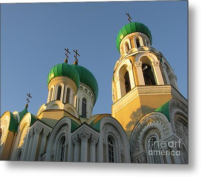 Orthodox Church Of Sts Michael And Constantine- Vilnius Lithuania Metal Print by Ausra Huntington nee Paulauskaite