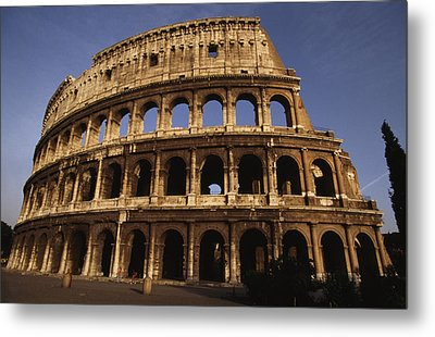 Outside Of The Collosseum, Rome, Italy Metal Print by Paul Chesley