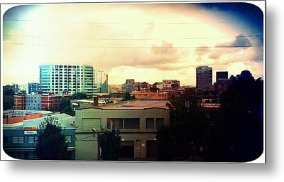 Over The City  Metal Print by Cathie Tyler