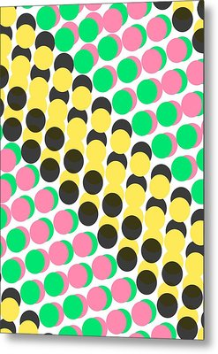 Overlayed Dots Metal Print by Louisa Knight