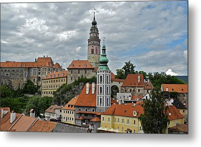 Metal Print featuring the photograph Overview Of Cesky Krumlov by Kirsten Giving
