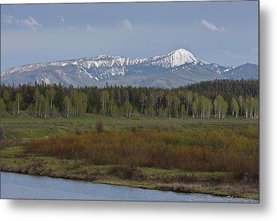 Oxbow Bend Metal Print by Charles Warren