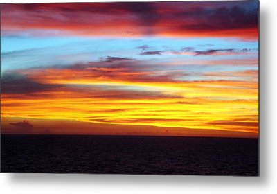Pacific Sunset 5 Metal Print by Laura Porumb