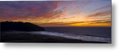 Pacific Sunset At Point Sur Metal Print by Steven Wynn