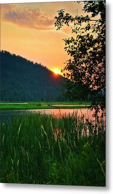 Metal Print featuring the photograph Pack River Delta Sunset 2 by Albert Seger