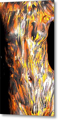 Paint Smears Metal Print