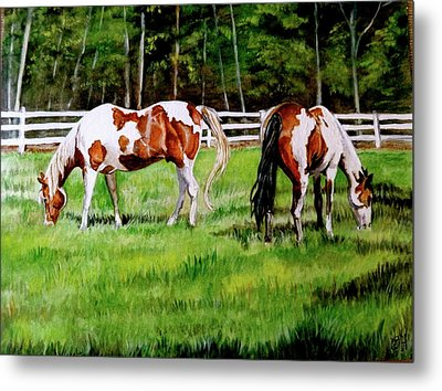 Paint The Fields Metal Print by Crystal  Harris-Donnelly